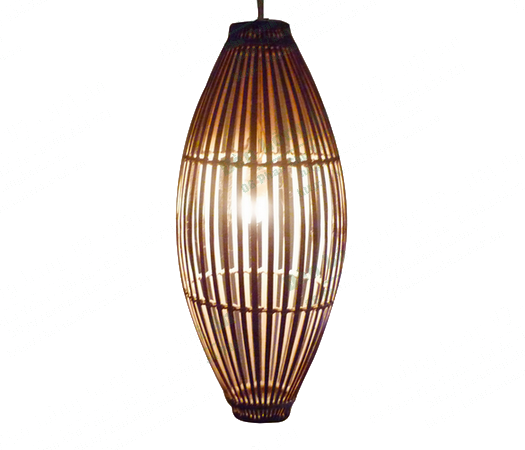 Đèn trung thu - Đèn tre hình elip